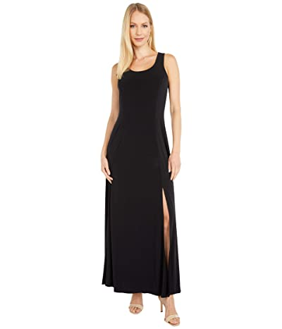 MICHAEL Michael Kors Solid Scoop Neck Maxi (Black) Women