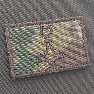 LEGEEON Multicam Mjolnir 2x3.25 OCP Thor Hammer Norse Viking Morale Tactical Military Touch Fastener Patch [並行輸入品]