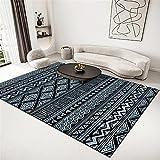 alfombras Entrada casa Alfombra Azul, sofá Suave Moisture-Mantener la Alfombra alfombras para cocinas -Azul_120x160cm