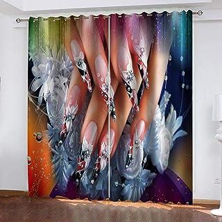 ATBDWOSZ® 3D-Fönstret Kreativa Kvinnans Naglar 3D-Mörkläggningsgardiner Digitaltryckta Gardiner Barnkammare Vardagsrum Lju...