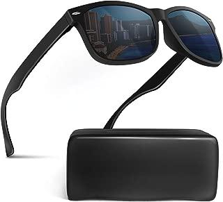 MODE des MONDE サングラス メンズ 偏光レンズ UV400 ハードケース付