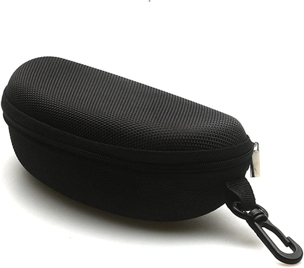 Sunglasses Case and Large Waterproof Eyeglasses Case Hard EVA zipper for Men & Women or Children with Cleaning Cloth…