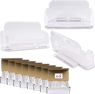 (100 Pcs) Beauticom Transparent Premium Acrylic Heavy Duty Business Name Card Holder Stand. Suitable For Office Or Store Usage. 100% Brand New & Wholesale Price.