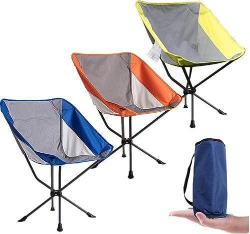 Chaise de Camping Pliante Chaise Se Pliante légère portative de Camping de Chaise avec la pêche de Hausse de Sac de Transport Chaise de Camping Pliante (Couleur   jaune)