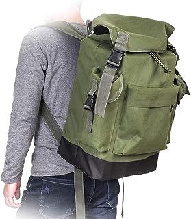 VKTY Mochila para aparejos de pesca, multifuncional, grande, impermeable, bolsa de aparejos de lona para exteriores, mochila de pesca