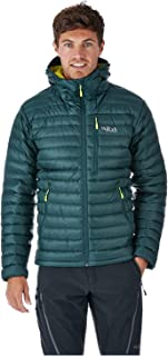 RAB Men's Microlight Alpine Jacket - Ethically-Sourced 750 Fill Hydrophobic Down Jacket (Pine