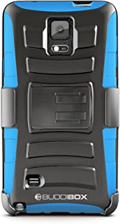 Note 4 Case, BUDDIBOX [HSeries] Heavy Duty Swivel Belt Clip Holster with Kickstand Maximal Protection Case for Samsung Galaxy Note 4, (Blue)