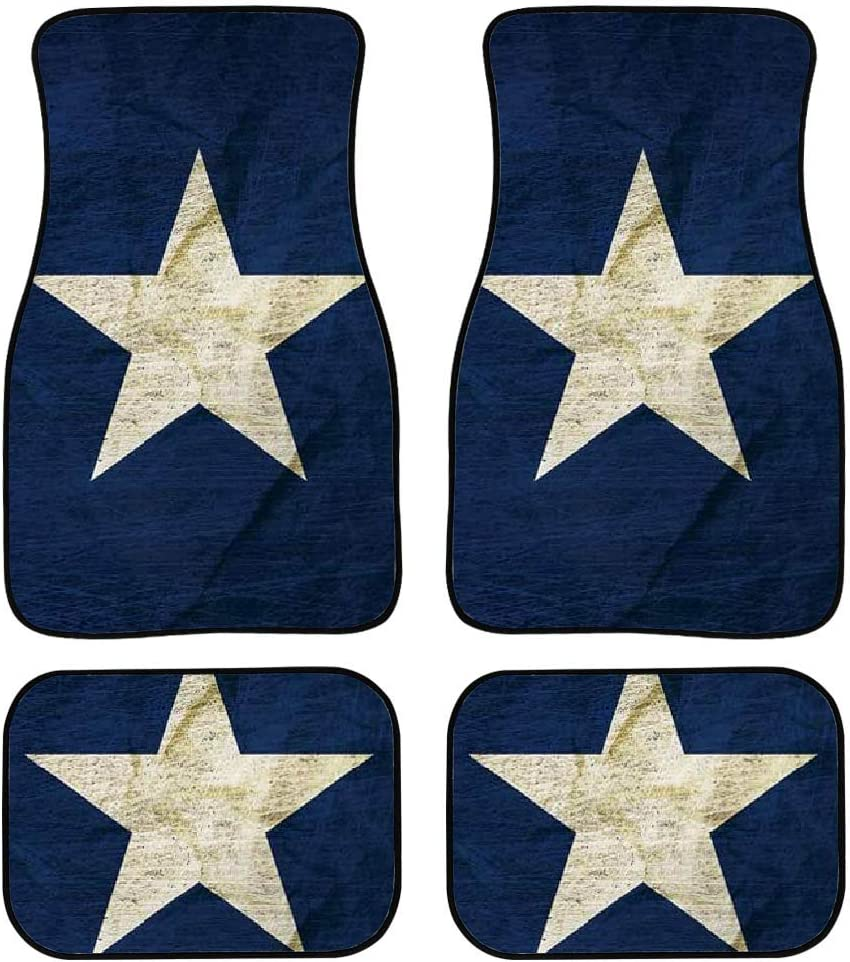 Salabomia Navy Blue Car Floor Mats Star New products, world's highest quality popular! Non Sale price Slip Design with Un