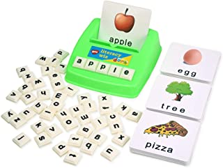 BOHS Literacy Wiz Fun Game -Lower Case Sight Words - 60 Flash Cards - Preschooler Language Learning Educational Toys