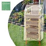 Lifetime Schutzabdeckung Schutzhülle Plane Abdeckung für Ihre Gartenstühle 105 x 68 x 68 cm aus Kunststoff in grün/grau