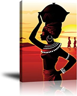 Premium Canvas Wall Art, Prints African Woman Decor Photo Paintings, Decorative Artwork for Bedroom Home Office Framed Ready to Hang 16