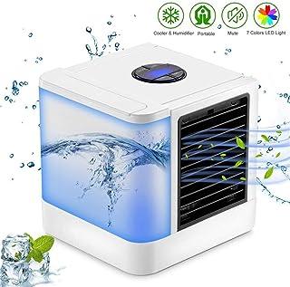 BCCDP Refrigerador De Aire Portátil Acondicionador De Aire Personal a Prueba De Fugas 3-en-1 Mini Ventilador De Escritorio Enfriador Evaporativo Personal, Purificador De Humidificador