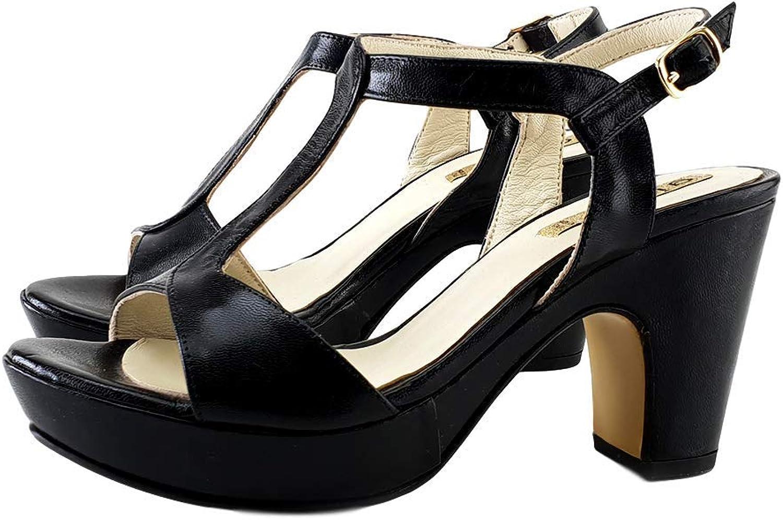 Kiara shoes Sandal Black Decoltè Number 37 (EU) Made in  - LT200 black