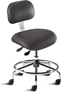 BioFit Engineered Products ETS-L-RC-C-AV126 Eton Series Desk Height Chair with Steel Base