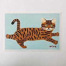 猫の足あと ポストカード「Run」
