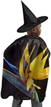 YUIOP Deluxe Halloween Children Costume Bird of Paradise Flowers Wizard Witch Cloak Cape Robe and Hat Set