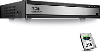 ZOSI Full 1080p HD 16 Channel Security DVR Recorder, H.265+ Hybrid 4-in-1 TVI DVR Surveillance System(Analog/AHD/TVI/CVI),Motion Detection,Mobile Remote Control,Email Alarm,2TB Hard Drive