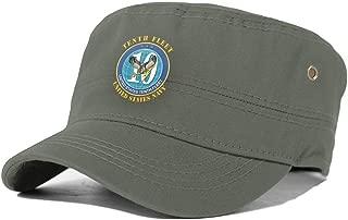 US Navy Tenth Fleet Cadet Army Cap Military Hat Flat Top Cap Baseball Caps