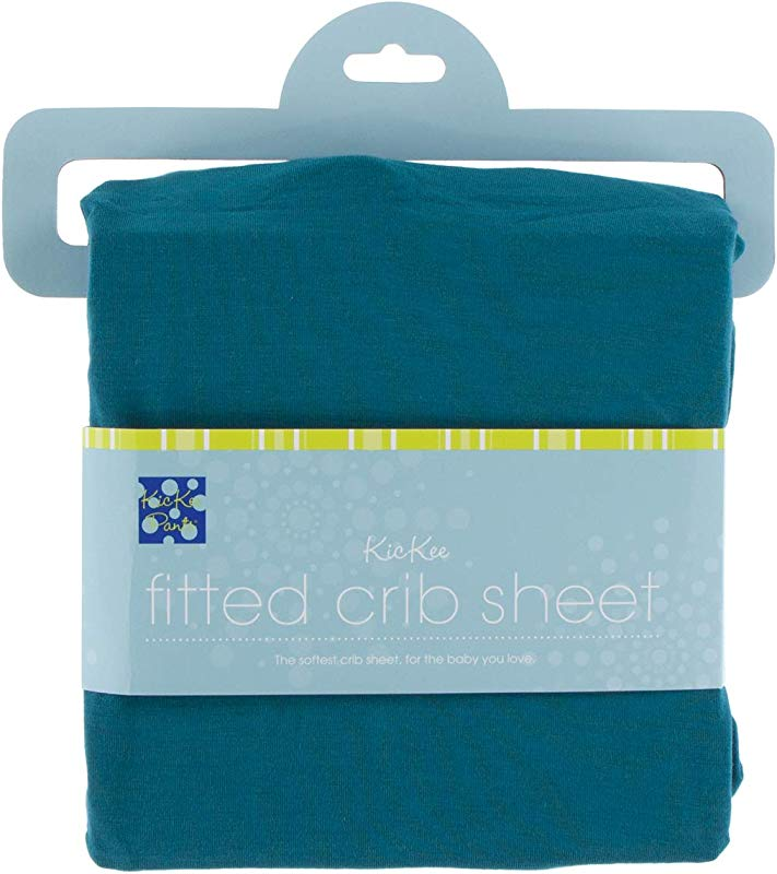 KicKee Pants Little Boys Solid Fitted Crib Sheet Heritage Blue One Size