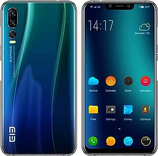 ELEPHONE A5 SIM-無料スマートフォン - 6.18インチFHD +超薄型フルスクリーンAndroid 8.1超携帯電話、Helio P60 6GB + 128GB、AI 5カメラ(20MP + 2MPフロントカメラ)、4000mAhバッテリー - トワイライトブルー