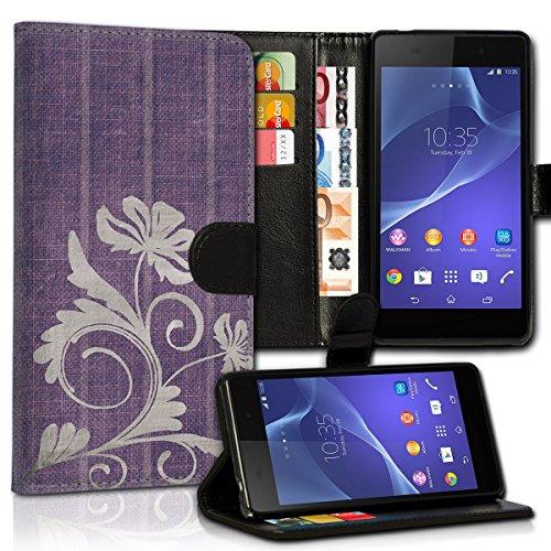 wicostar Book Style Huawei GR3 Premium PU-Leder Tasche Flip Brieftasche Handy Hülle Kartenfächer mit Standfunktion für Huawei GR3 - Design Flip MVC18