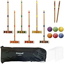 Juegoal Six Player Croquet Set with Drawstring Bag, 28 Inch