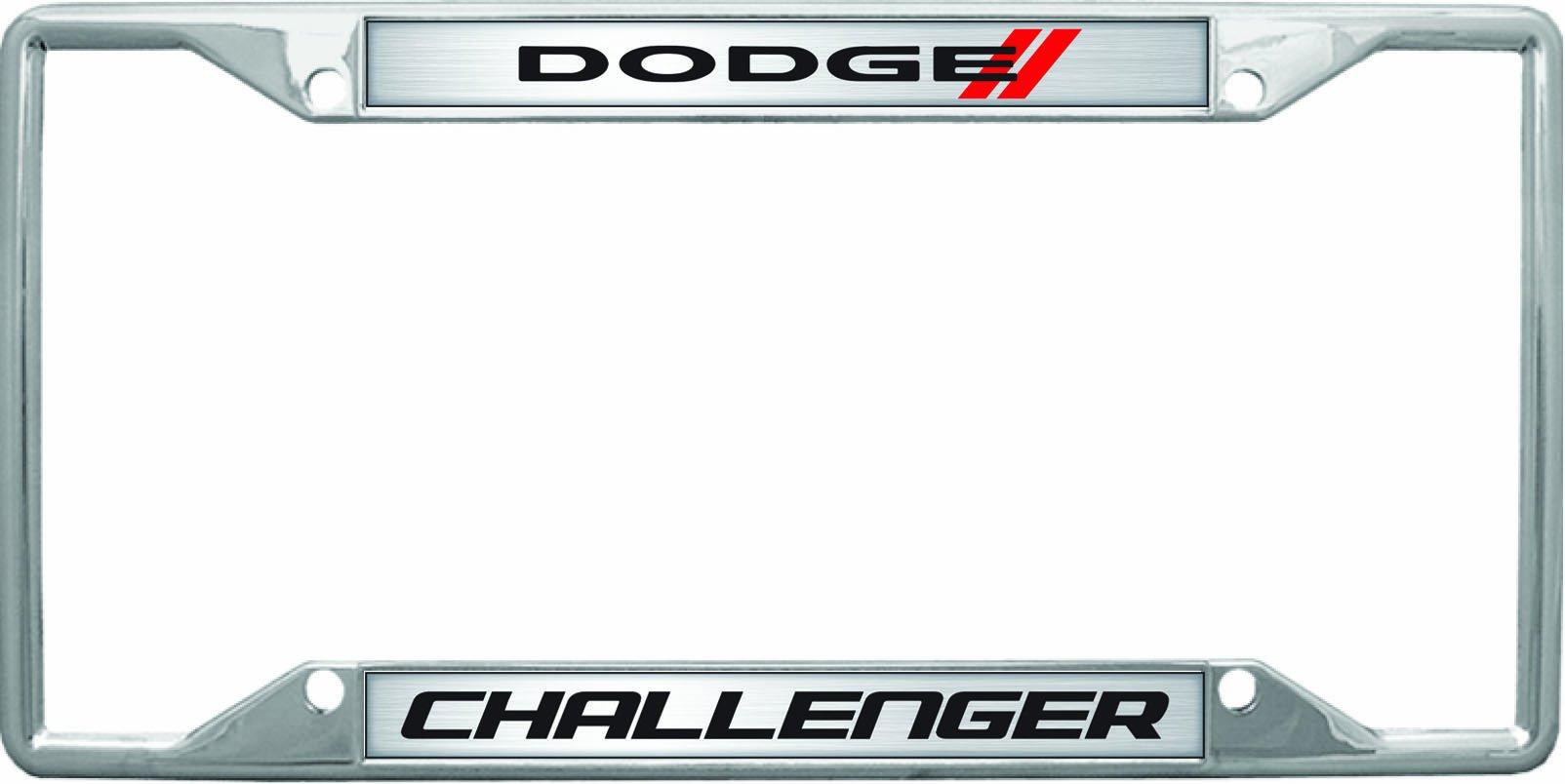 New Dodge Challenger Blackout Black License Plate Frame