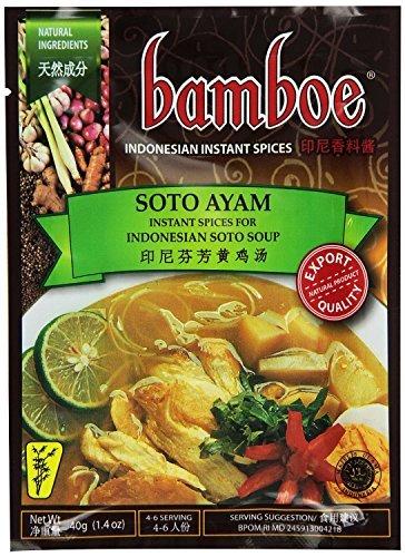 Bamboe Soto Ayam (Yellow Chicken Soup Seasoning) - 1.4oz [Pack of 6] by Bamboe
