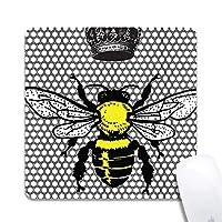 女王蜂拡張人間工学に基づいたゲーミングマウスパッド、正方形200x200x3mmマウスパッドカスタムデザインラバースクエア200x200x3mmマウスパッド-女王蜂