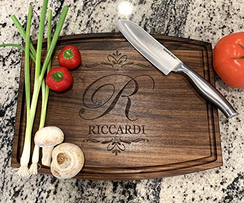 Custom Personalized Wood Cutting Board 2 Wood types with 20 designs Christmas Anniversary Wedding Gifts House Warming Realtor Gift