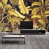 XHXI Mural retro 3D nórdico pintado a mano Lluvia Basho Tv pared moderna europea TV pared 3D papel pintado pegar sala de estar pared para dormitorio mural frontera 400 cm × 280 cm