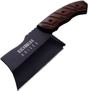 BucknBear Tactical Chopper Knife, Cleaver Fixed 6 Inch Blade, G10 Handle