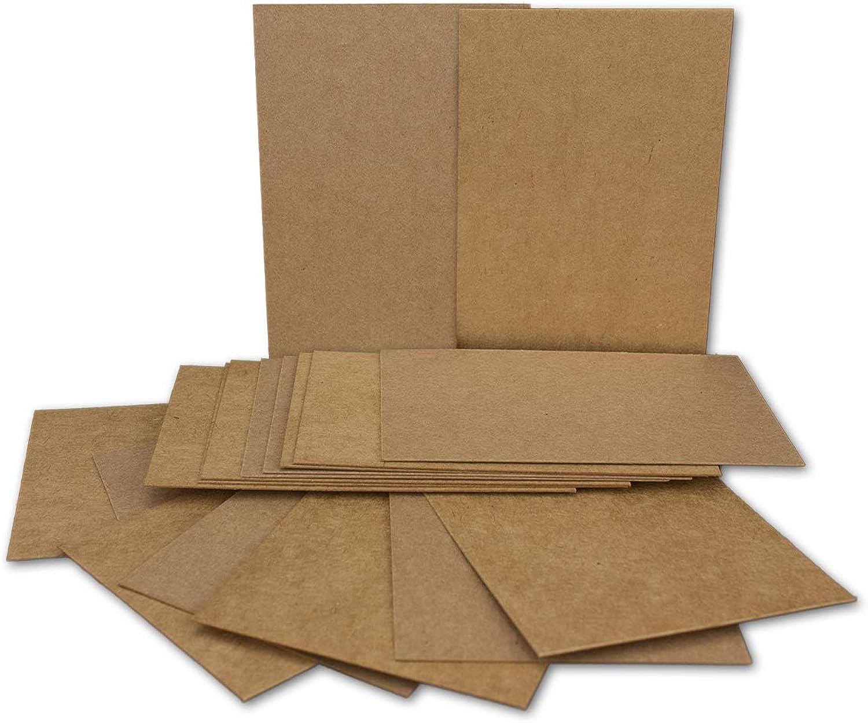 300x Kraftpapier-Einzel-Karten Din A7 10,5x7,3 cm 410 g m² braun Einladungs-Karten zum Selbstgestalten & Basteln ideale Geschenkanhänger Bastelkarte B07KKFS5GY    Feinbearbeitung