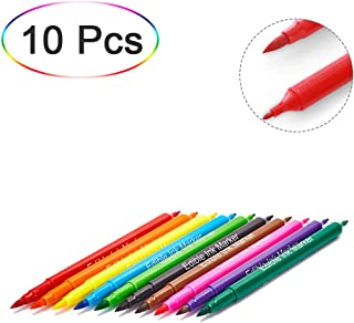 Food coloring Pens Edible Markers 10Pcs Fine & Thick Tip Food Grade Gourmet Writers for DIY Fondant,Cakes, Cookies, Frosting, Easter Eggs Baking Decorating Painting Drawing Writing 10 Colors
