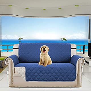 YDL Pet Sofa Cover, Reversible Couch Cover for Dogs, Kids, Pets, Sofa Slipcover Set Furniture Protector for 2 Cushion Couch, Recliner, Loveseat and Chair Bule 46 X 74