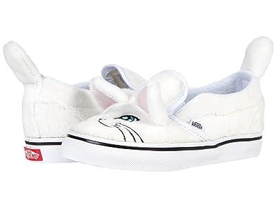Vans Kids Cat Slip-On V (Infant/Toddler) ((Cat) True White/True White) Kid