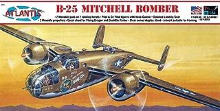 B-25 Mitchell WWII Bomber Plastic Model Kit 1/64 Atlantis Toy and Hobby
