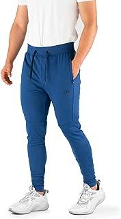 Contour Athletics Men's Joggers (Hydrafit) Track Pants Men's Active Sports Running Workout Pant Zipper Pockets