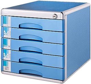 KANJJ-YU Classeurs de fichiers armoire à tiroirs 5 niveaux avec tiroir type de verrouillage Couche de bureau Bureau Boîte ...