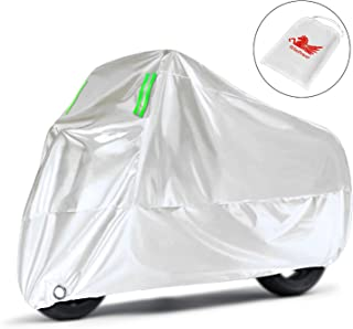 WinPower Motorcycle Cover Outdoor Sand UV Protection Waterproof 210D Oxford Durable 104 inches Bike Motorbike Cover Compat...