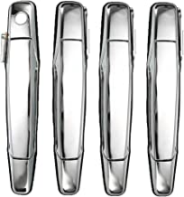 SpeeVech Exterior Door Handle Chrome Set of 4 - Fit for Chevy, Cadillac & GMC Vehicles - Chevy Avalanche Silverado Suburba...