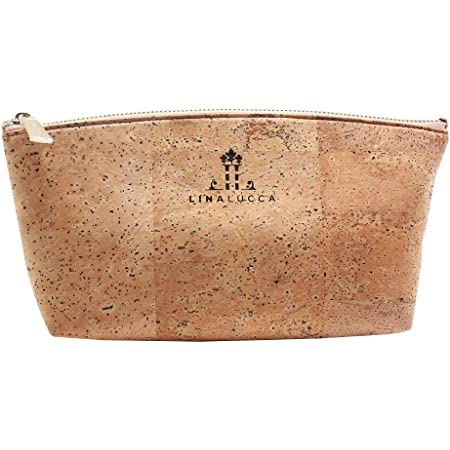 pouch vegetable leather kit canvas and cork make-up kit vegan leather Cloth and cork toiletry kit natural cork