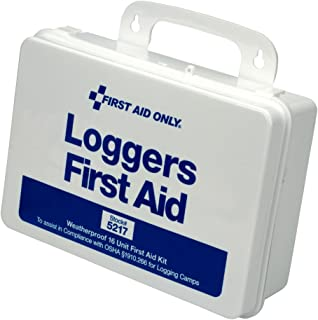 First Aid Only 5217 85 Piece Weatherproof Plastic Loggers First Aid Kit, 6-1/2 Length x 9-1/2 Width x 2-3/4 Height