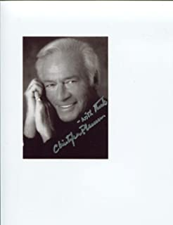 Christopher Plummer Disney UP The Sound of Music Rare Signed Autograph Photo