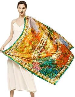 prettystern - 110cm de gran tamaño satén de seda crepé pesado (16 mm de espesor) de tela de seda handroulier Nouveau - Gus...