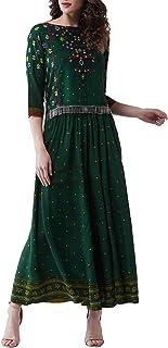 Pannkh Mughal - Maglia bassa, da donna con Kalidaar Palazzo