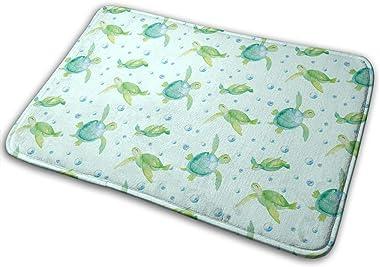Ocean Turtles Carpet Non-Slip Welcome Front Doormat Entryway Carpet Washable Outdoor Indoor Mat Room Rug 15.7 X 23.6 inch