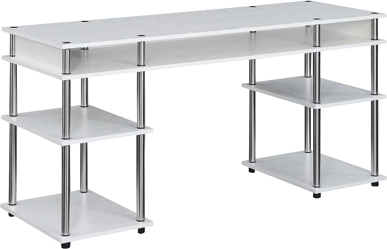 Nashville-Davidson Mall Convenience Concepts Designs2Go 5 ☆ popular No Tools Deluxe Student wit Desk