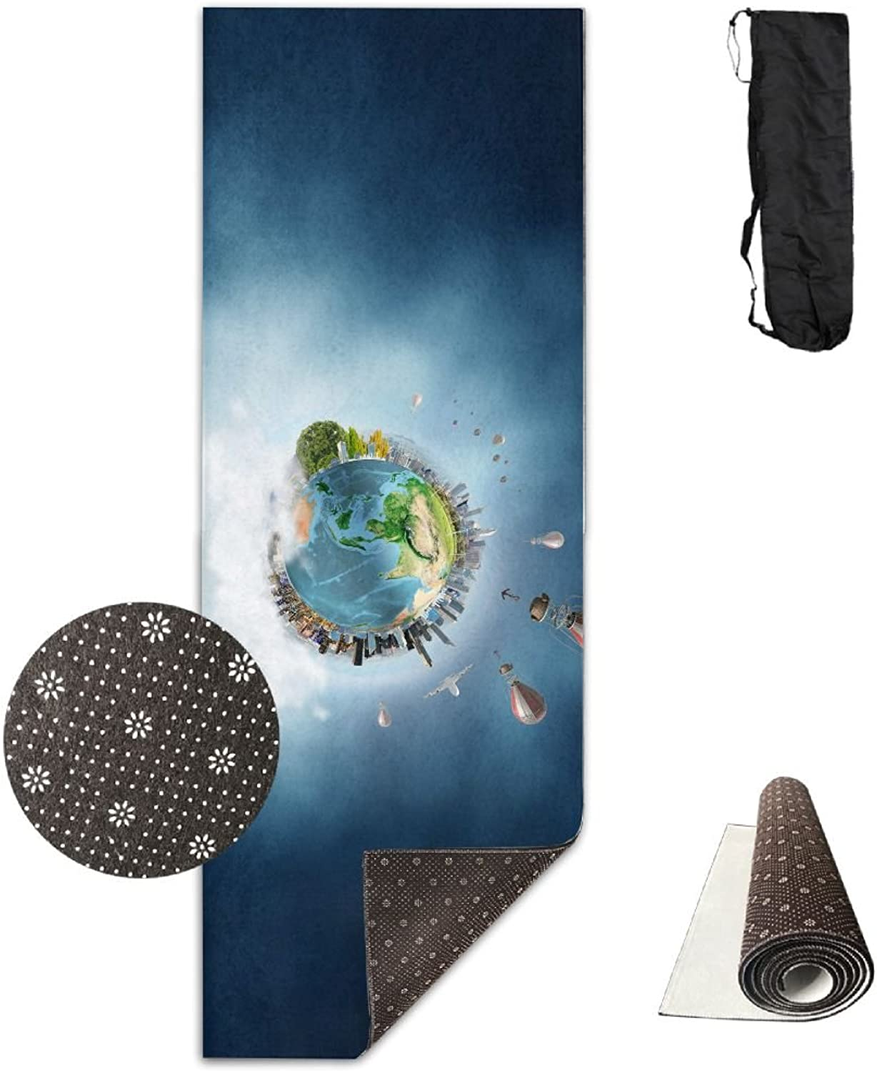 BINGZHAO 3D Floating Island Exercise Yoga Mat for Pilates,Gym,Fitness, Travel & Hiking