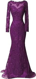 Best purple lace evening gown Reviews